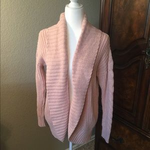 Open front knit cardigan - blush pink!